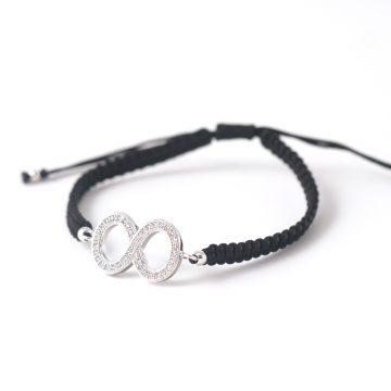 Bracelet-0197-Infinity-black