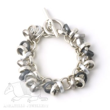 Chain 12 bracelet Anth silver