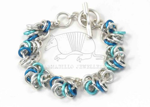 Chain-15-bracelet-blue-silver