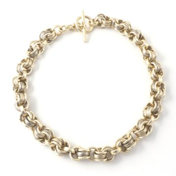 Chain-4-Necklace-Olive-Gold