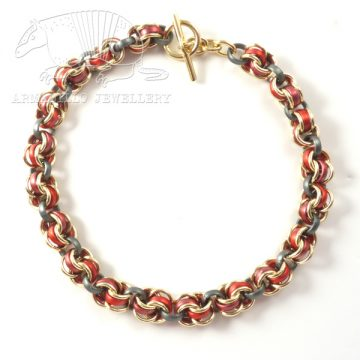 Chain 4 necklce red anth g