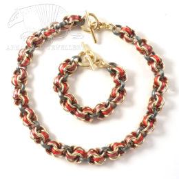 Chain 4 set red anth g