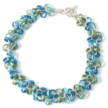 Chain-9-Necklace-Blue-green