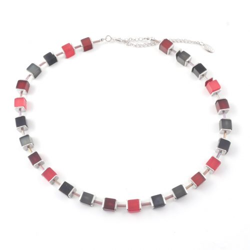Cubist-Necklace-Red-Anthracite
