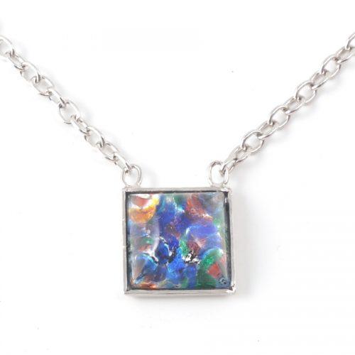 Necklace-K6111-Square-Blue-multi