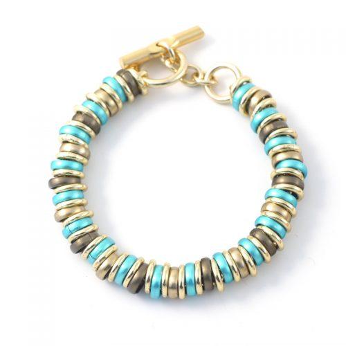RRK-bracelet-khaki-aqua-gold