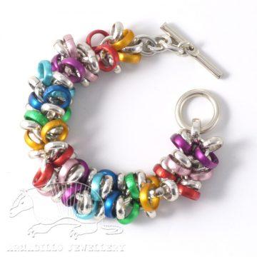 Super-loop bracelet multicolour