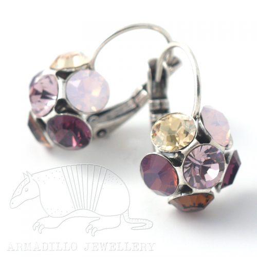 Swarovski Crystal Flower Earrings by Moliere colour 236