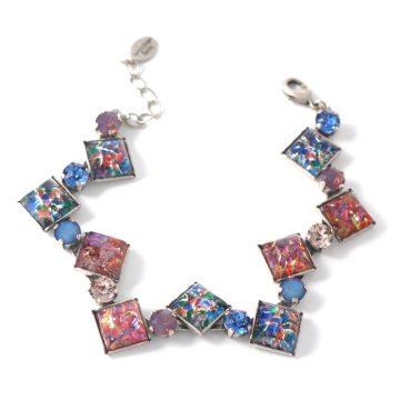 Blue-Rose-Squares-bracelet