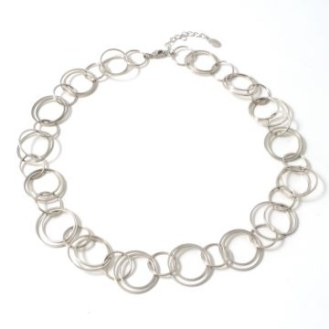 Double-rings-silver-short