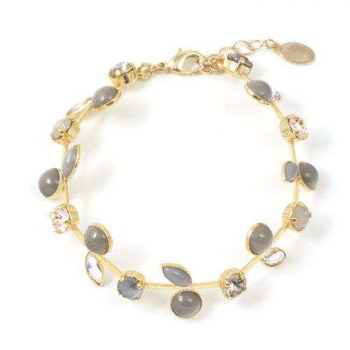 Sergio-Leaf-Bracelet-Smoke-Gold