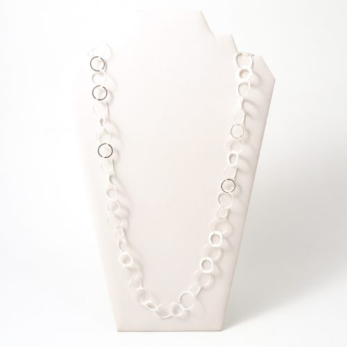 Single-Rings-Long-Necklace-Matt-silver