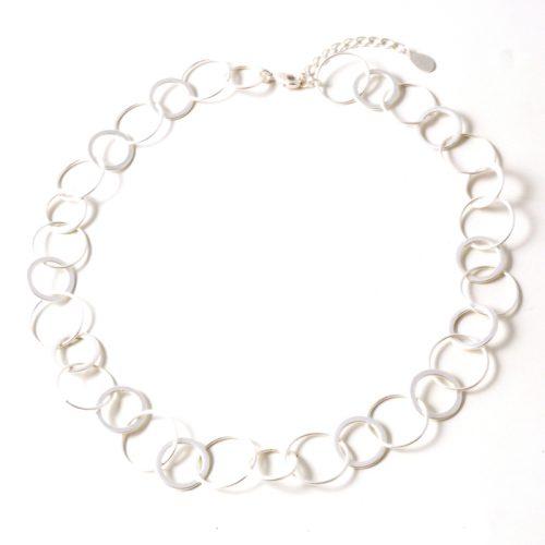 Single-Rings-Short-Necklace-Matt-silver