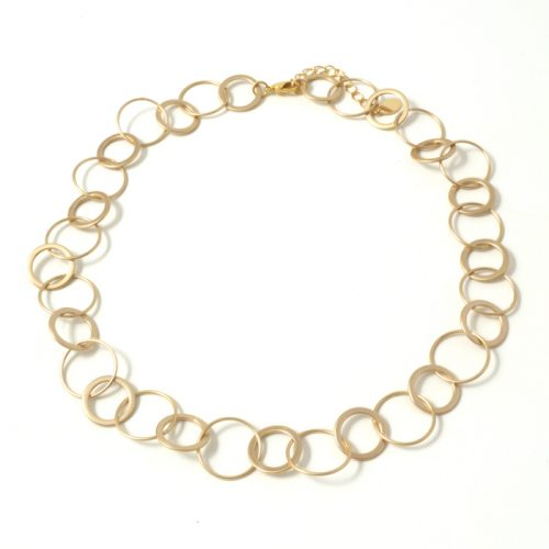 Single-Rings-short-Necklace-Matt-gold