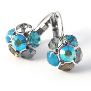 Swarovski Crystal Flower Earrings by Moliere colour 330s