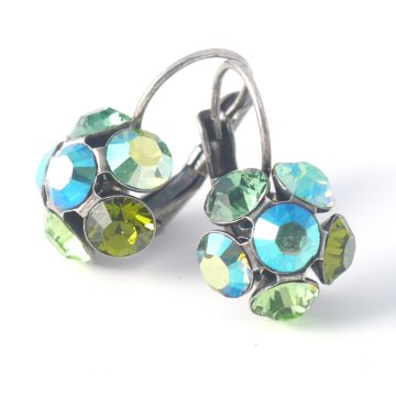 Swarovski Crystal Flower Earrings by Moliere colour 331