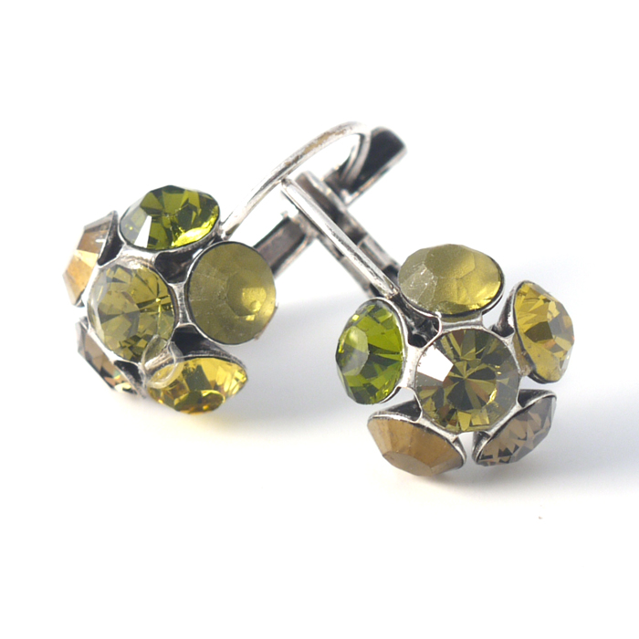 Swarovski Crystal Flower Earrings by Moliere colour 335