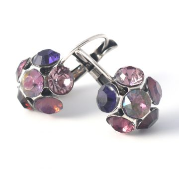 Swarovski Crystal Flower Earrings by Moliere colour 337