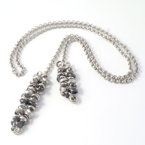 Chain-5-Long-Tie-Anthracite-Silver
