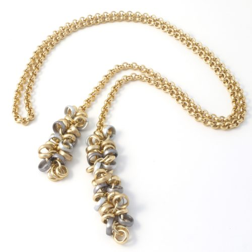 Chain-5-Long-Tie-Grey-gold-silver
