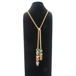 Chain-5-Long-Tie-Multicolour-gold-ii
